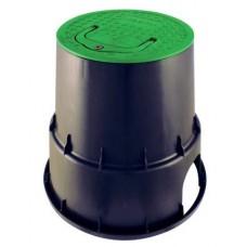 Шахта за клапани PZC RN 15 EzOpen, кръгла ?15 H=229 mm B/G със заключваща се дръжка, Rain